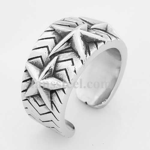 FSR14W37 five-pointed star ring - Click Image to Close